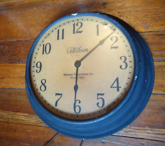 RESERVED FOR GILLIAN Industrial Vintage Factory or School Clock