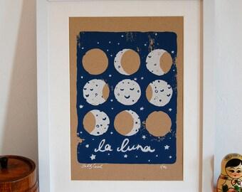 La Luna Screen Print
