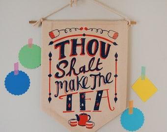 Tea Lover Hanging Banner