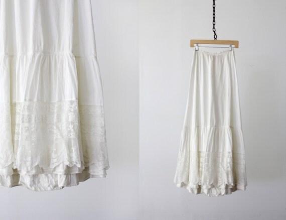 1900s Skirt / Edwardian Petticoat / Waist 25