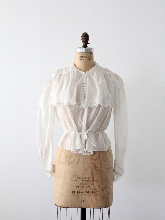 ON RESERVE SISI Edwardian white lace blouse