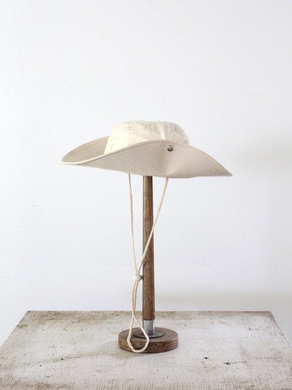 1980s Safari Hat / Vintage Outdoor Hat