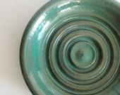 Sea green soap dish