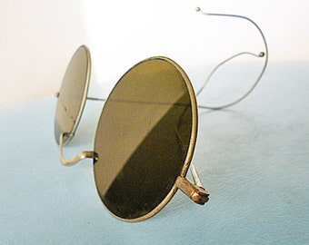REDUCED Early Steampunk sunglasses with flat lenses