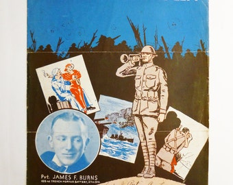 1935 Signed Sheet Music by James Burns
