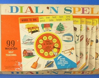 1961 Dial n' Spell Educational Game-Toy