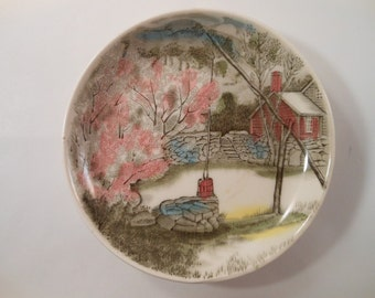 Vintage Johnson Bros England Small Spring Season with Pink Cherry Blossom Plate