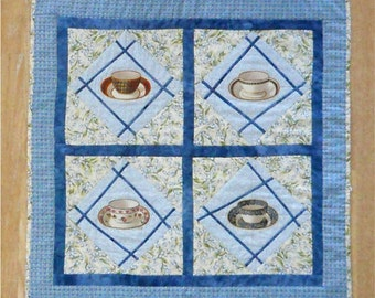 TEACUPS Quilt Wall Hanging