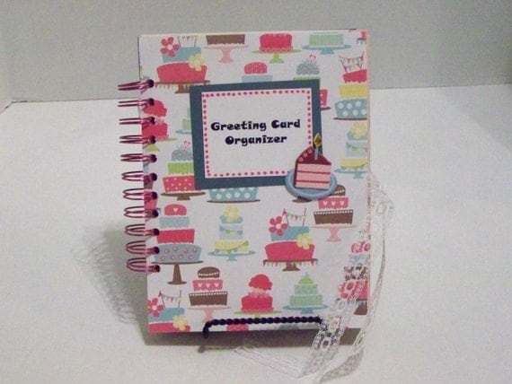 Greeting Card Organizer & four greeting cards