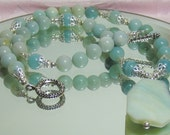 AMAZONITE Necklace - mint green accessories for your wardrobe