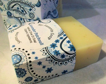 Lavender Patchouli Vegan Olive Oil Soap - Organic Ingredients