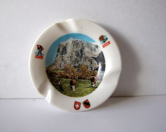 Swiss Knight Gerber Picturesque Ashtray Vintage