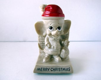 Merry Christmas Mouse from Russ Berrie & Co. 1976 Kitschy