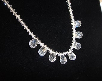 SALE  Under 1/2 Price Crystal  Teardrop Choker Necklace