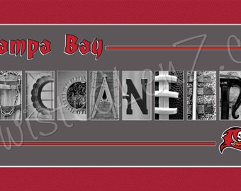 Tampa Bay Buccaneers Alphabet Photo Collage