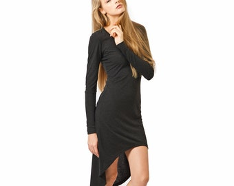 Womens mini dress with high low hem