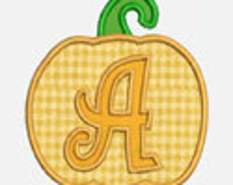 Pumpkin Alphabet A-Z...Embroidery Applique Design...Two sizes for multiple hoops...Item1383...INSTANT DOWNLOAD
