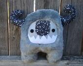 Monster plush, Stuffed Monster grey