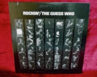 The GUESS WHO - Rockin' - 1972 Vintage Vinyl GATEFOLD Record Album...Includes Lyrics Insert...Promotional Copy