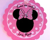 Minnie Mouse Favor Tag in Light Pink