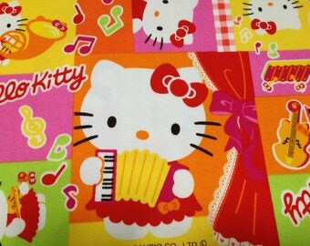 Hello kitty cotton fabric One yard  pink color
