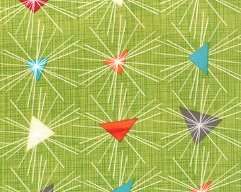 Moda Mod Century Chartreuse - by Jenn Ski  30512-14 quilting fabric cotton