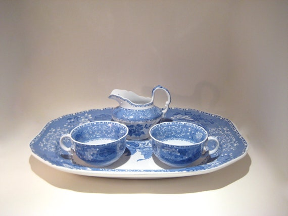 Spode's Camilla Blue and White Platter - Rectangular