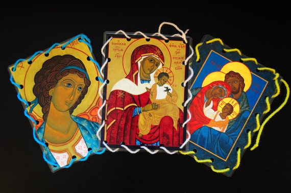 Catholic Icon Lacing Cards