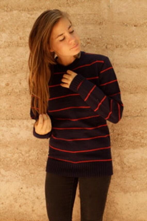 grunge sweater STRIPED crop top BOXY petite SLOUCHY sweater