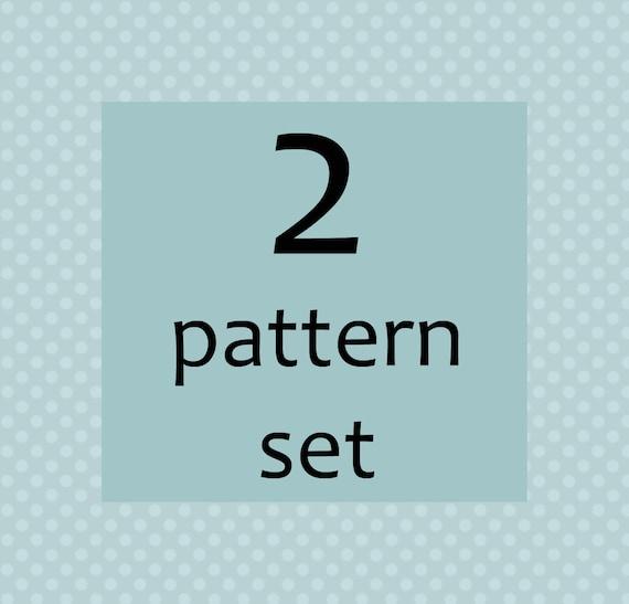 TWO pattern set - buy any two pdf patterns - you choose