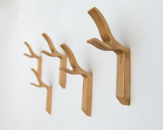 branch wall hook modern twig hook wooden coat hooktwig coat. Black Bedroom Furniture Sets. Home Design Ideas