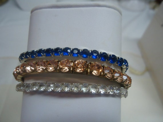 RESERVED JO Vintage Jewelry Lot Rhinestone Bracelets Jewelry