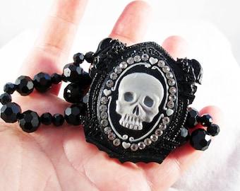 Gothic Gargoyle Skull Stretchy Bracelet