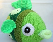 Finlay Plush Fish Toy - Shoal of Green - Knitted Fish Toy