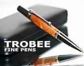 Koa Wood Pen : Ballpoint fine hand made writing gift for men or women