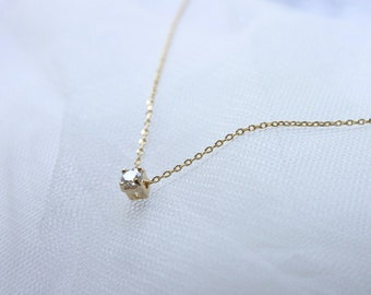 Tiny crystal charm Necklace - S2174-2