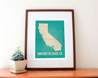 Huntington Beach, California Love Print