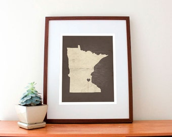 Minneapolis, MN Love Print