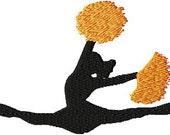 Instant Download Cheerleader - Machine embroidery design - Digitized Design - Custom Embroidery