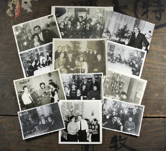 "20 Vintage Photos ""Christmas Trees"", Photography, Paper Ephemera, Snapshot, Old Photo, Collectibles - 13"