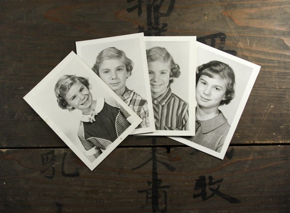 "4 Vintage Photos ""Little Girl"", Photography, Paper Ephemera, Snapshot, Old Photo, Collectibles - 0019"