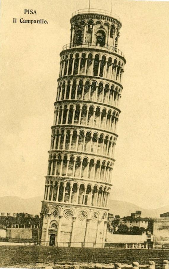 Vintage Postcard Leaning Tower Of Pisa Paper