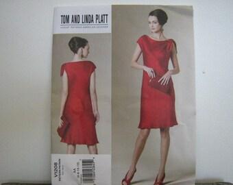 Vogue Designer Dress Pattern, Tom and Linda Platt, Vogue 1208, Women's SZ 6 through 12, Uncut
