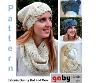 Estonia Gunny Hat and Cowl Pattern