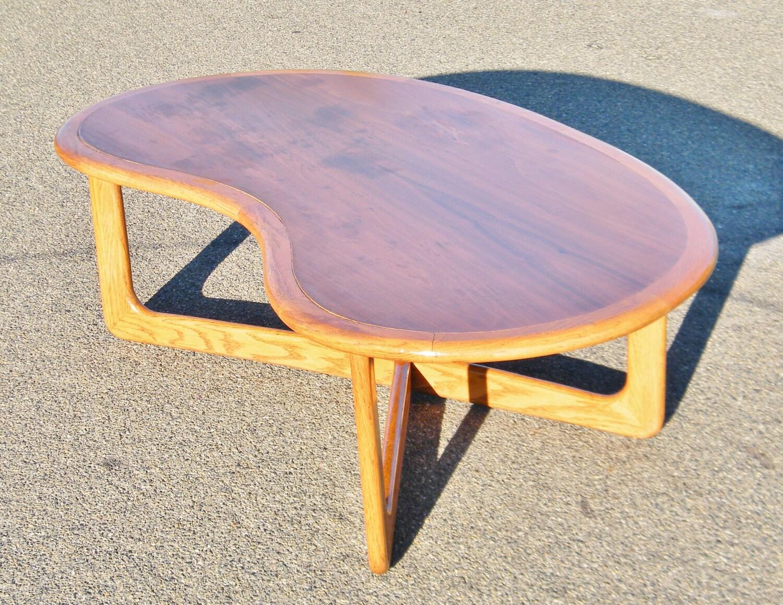 lane mid century kidney shaped coffee table. Black Bedroom Furniture Sets. Home Design Ideas