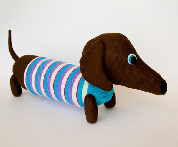Blue Sock Monkey Dog Toy