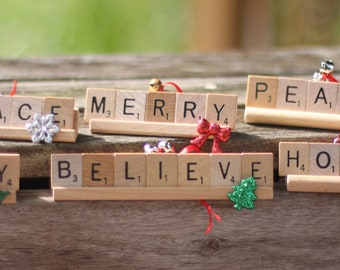 Custom Holiday Scrabble Ornament