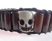 Skull Solitaire bracelet  (B364BR)
