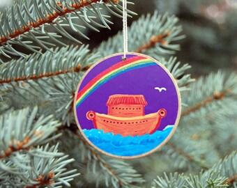 Jesse Tree Ornaments - Rustic Wooden - Advent Purple