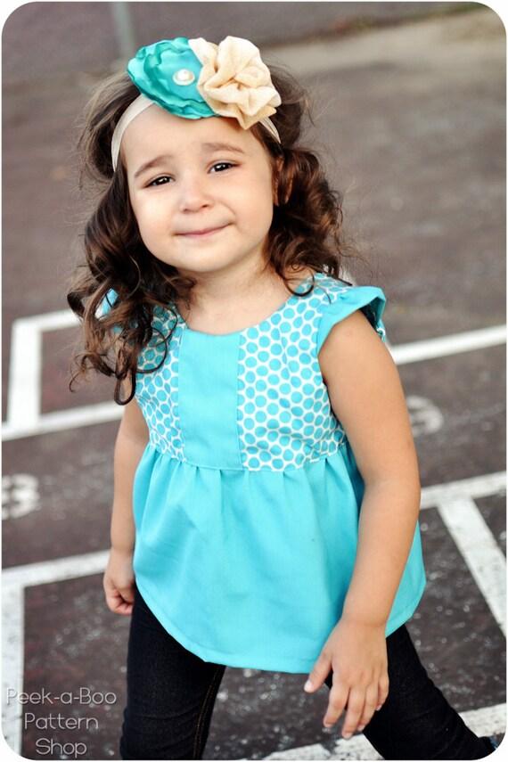 Hopscotch Top, Tunic, and Dress: Girls Dress PDF Pattern, Baby & Toddler Dress PDF Pattern, Tunic Pattern, Top Pattern